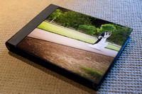 "12 x 16"" Traditional Style Album - Horizontal Format - White Matts  - Acrylic Photo Cover"